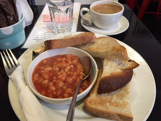 Baked Beans and Toast for Breakfast