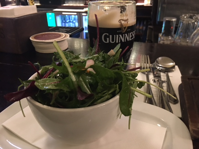 Salad and a Guinness