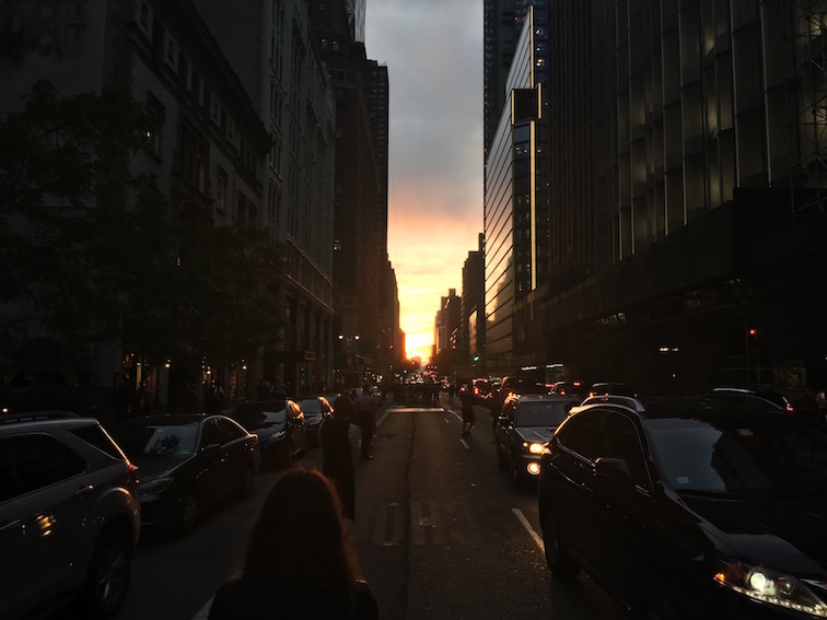Sunset on 57th Street in Manhattan