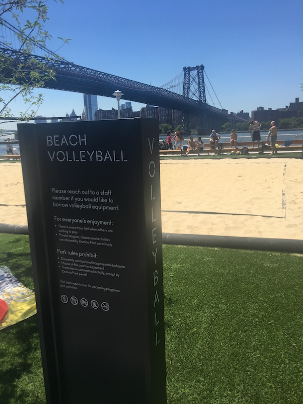 Beach Volleyball at Domino Park