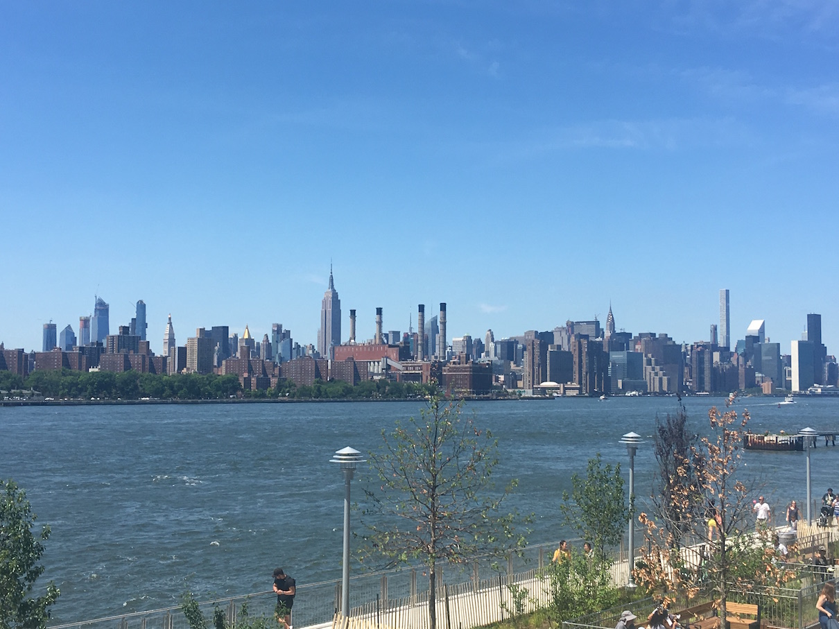 View of Manhattan from Domino Park